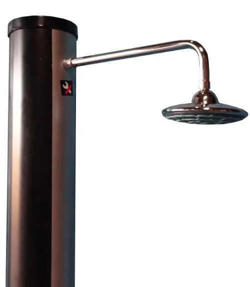 Dlouhá hlavice solární sprchy pro komfortní sprchování