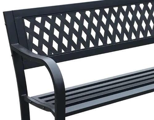 Kovová zahradní lavička s plastovou výplní