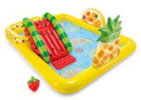 Dětské hrací bazénové centrum Ovoce se skluzavkou na zahradu