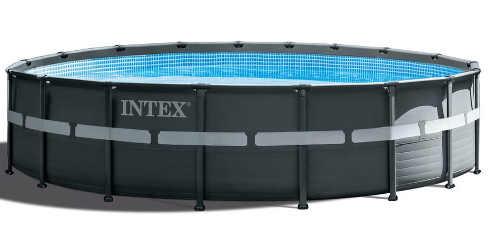Kruhový pětimetrový nadzemní kovový bazén Intex
