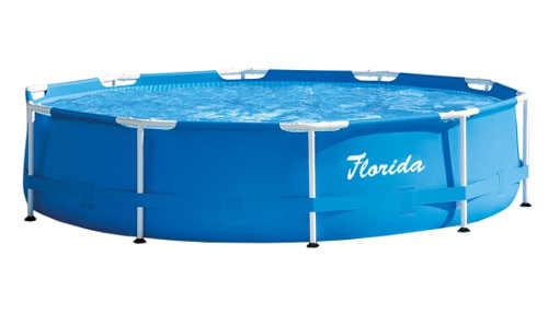 Levný zahradní bazén s kovovou konstrukcí průměr 3 metry
