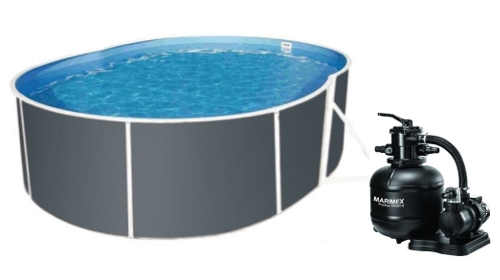 Oválný bazén Orlando 3,66x5,48 m s pískovou filtraci a možností zabudování do země