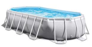 Oválný zahradní bazén s filtrací Intex Prism Frame Oval - ideální pro rodiny s dětmi