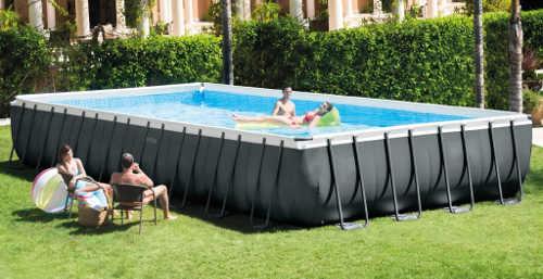 Velký nadzemní obdélníkový bazén na zahradu 10 x 5 m