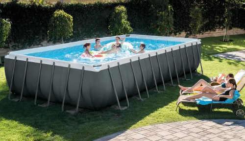 Velký obdélníkový bazén na zahradu