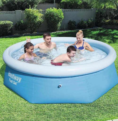 Kruhový zahradní nadzemní bazén