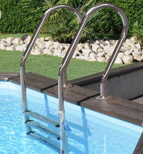 Luxusní celodřevěný zahradní bazén