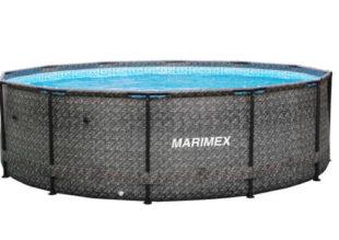 Nadzemní bazén v ratanovém vzhledu