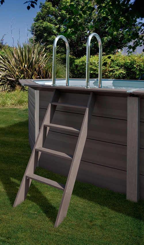Nadzemní zahradní bazén luxusní design