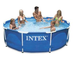 Zahradní bazén s kovovou konstrukcí