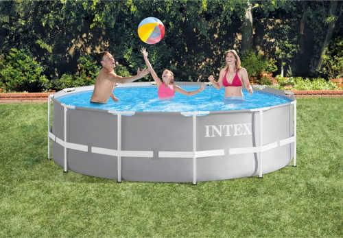 kruhový bazén s pevnou konstrukcí Intex