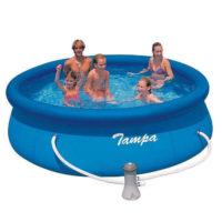 Kruhový nadzemní bazén s filtrací