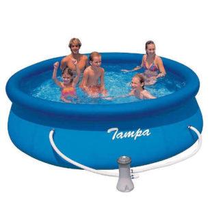 Kruhový nadzemní bazén s filtrací1