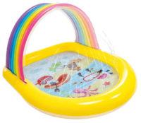 Dětský nafukovací bazének s duhovou stříškou a sprškou