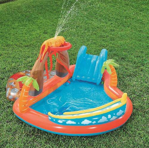 Nafukovací dětský bazének tropický ostrov se sprškou