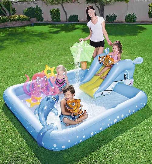 Vodní nafukovací zábavní centrum na zahradu
