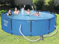 Levný zahradní bazén průměr 3 metry včetně filtrace