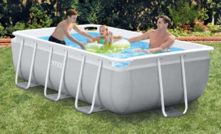 Luxusní nadzemní bazén s nerezovou konstrukcí Intex Prism Frame 3 m x 1,75 m x 0,8 m