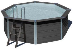 Nadzemní bazén GRE Composite z moderního kompozitního materiálu 410 x 124 cm set s pískovou filtrací