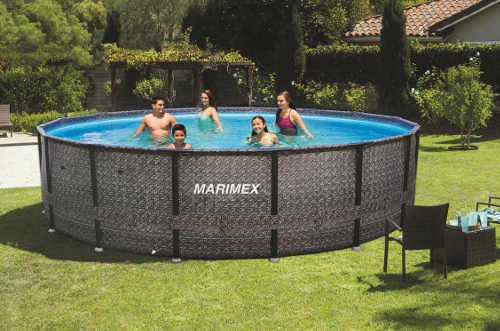 Nadzemní bazén na zahradu v ratanovém provedení