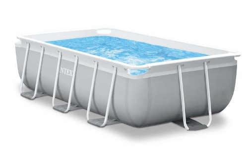 Obdélníkový nadzemní bazén Intex s kovovou konstrukcí
