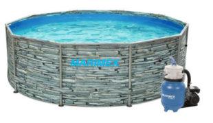 Zahradní bazén Florida 3,05x0,91 m motiv KÁMEN