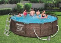 Kruhový ratanový bazén Bestway s filtrací a žebříkem
