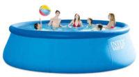 Levný velký zahradní bazén s nafukovacím lemem Intex Easy Set 4,57 x 1,22 m