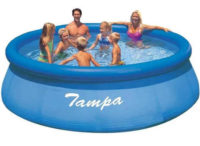 Levný zahradní bazén s nafukovacím horním límcem 3,66 x 0,91 m