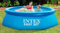 Menší nadzemní zahradní bazén Intex Easy Set 2,44 x 0,76 m