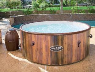 Nafukovací vířivý bazén spa 1,80m X 0,66m - dřevěný vzhled