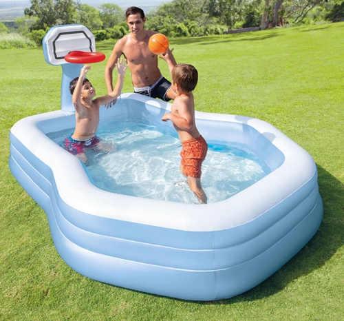 Nafukovací vodní zábavní centrum s basketbalovým košem