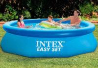 Samonosný nadzemní bazén s nafukovacím horním lemem Intex Easy Set 3,05 x 0,76 m