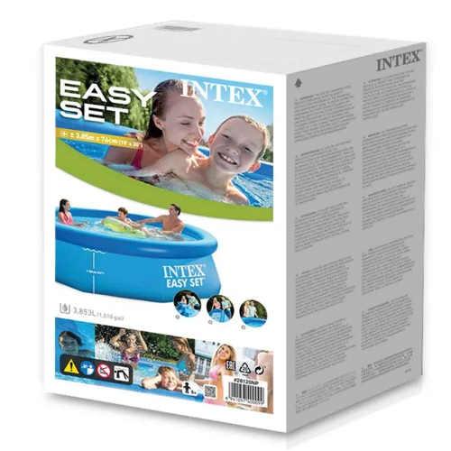 Složený samonosný bazén nezabere příliš místa a je tak jednoduché jej zazimovat