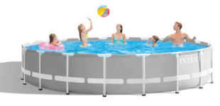 Velký nadzemní zahradní bazén Intex 6,10 x 1,32 m