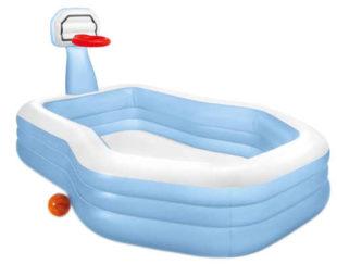 Velký nafukovací bazén Intex s basketbalovým košem
