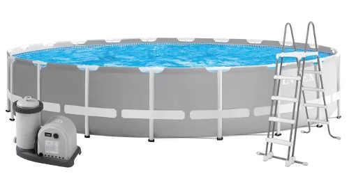 Velký zahradní bazén včetně schůdků a filtrace