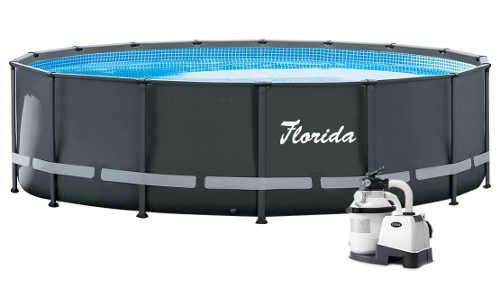 Zahradní nadzemní bazén 4,88 m s pískovou filtrací