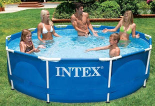 Zahradní rodinný bazén s kovovým rámem INTEX Metal Frame 3,05 x 0,76m
