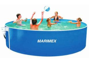 Kruhový rodinný bazén se skimmerem