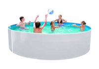 Praktický zahradní bazén v kruhovém provedení