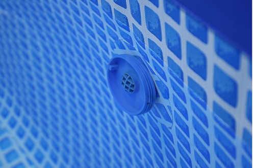 nadzemní kruhový bazén s nafukovacím lemem