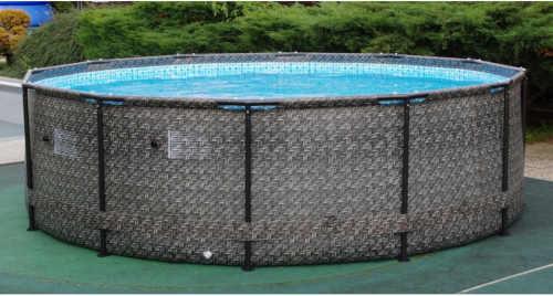 oválný nadzemní bazén ratan