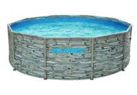 Kruhový bazén Florida v motivu kámen