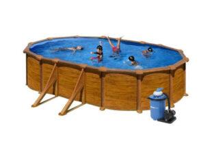 Moderní nadzemní bazén s pískovou filtrací