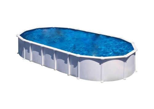 Oválný nadzemní bazén v moderním provedení