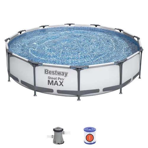 nadzemní moderní kruhový bazén