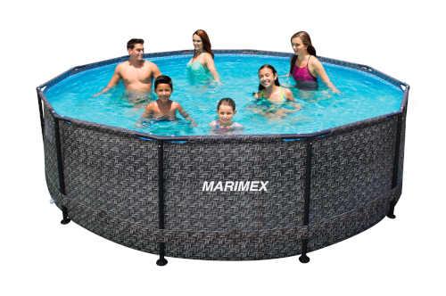 rodinný kruhový zahradní bazén