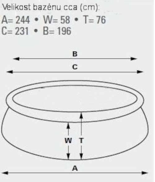 Bazén Intex 2,44 x 0,76 m