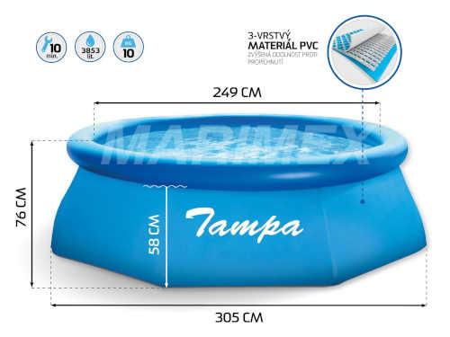 Bazén Tampa s kartušovou filtrací